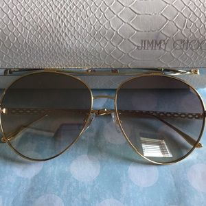 Jimmy Choo Aviator Gold Metal